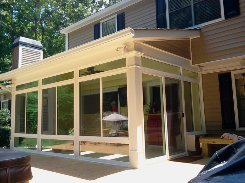 Dc enclosures sunroom patio enclosures screen enclosure for Backyard sunroom