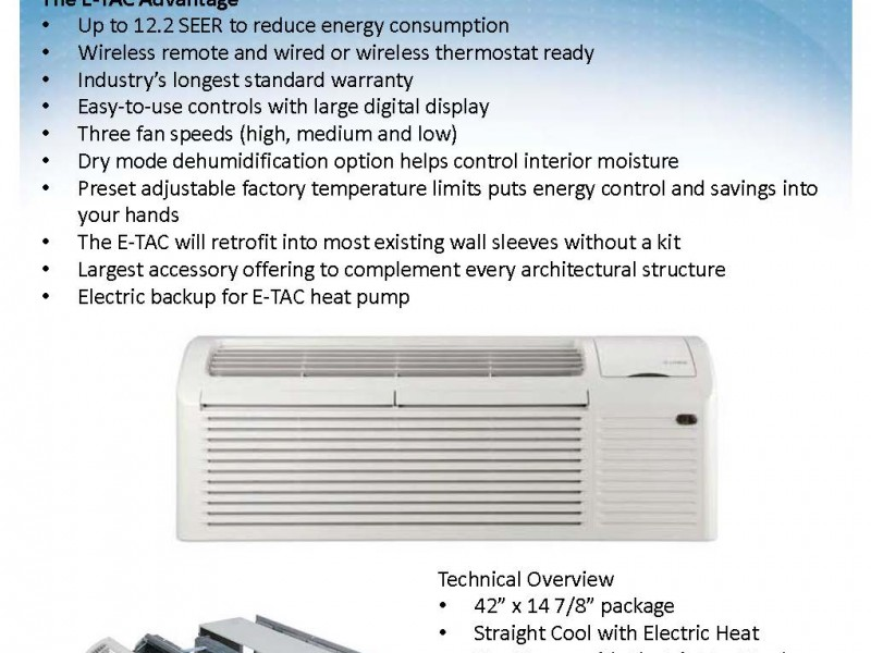 Gree Etac Heating & Cooling for Patio Enclosures